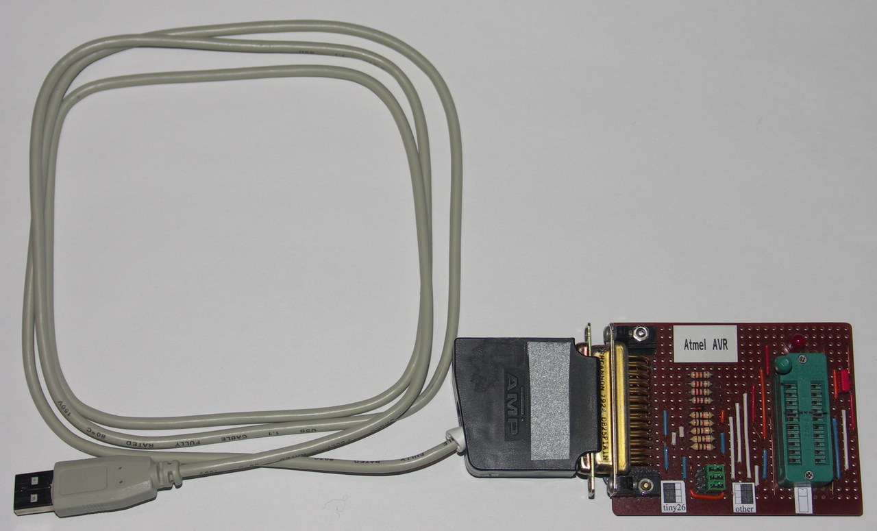 Usbtiny Kabel Usb To Paralel Or Lpt Printer Bit Banging The Spi Signals Via Turned Out Be Very Slow Get Reasonable Programming Speeds Ive Moved Algorithm Into Avr